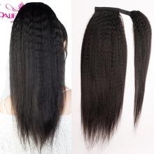 Кудрявые прямые накладные человеческие волосы для конского хвоста бразильский конский хвост Remy заколка для волос для конского хвоста для ж...