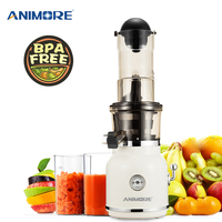 ANIMORE Fruit Juicer Stainless Steel fast Continuous Juice Vegetable Juice Baby food Extractor Compact Cold Press Juicer Machine