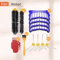 Peças de reposição kit para irobot roomba 600 series 610 620 650 vácuo cerdas escova aero vac filtro escova lateral robô aspirador pó Aspiradores de pó     -