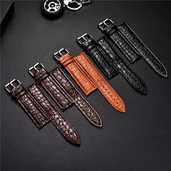 Correa de piel de cocodrilo diseño piel de becerro correa de cuero suave reloj de repuesto negocio correa de reloj 16mm 18mm 20mm 22mm 24mm correas