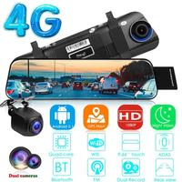 4G Android 5.1 Dashcam GPS Navigation Rearview Mirror Car DVR Camera Supporting Remote Monitoring of Vehicle Assistants