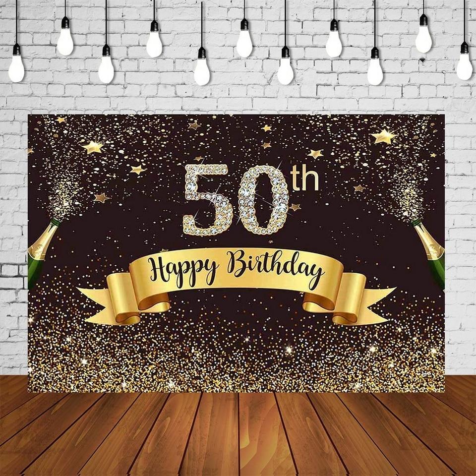 Festa Compleanno 40 Anni adulti festa di compleanno sfondo 40 anni donna uomo 50th di compleanno  fotografia in studio sfondo dorato nero decorazioni per parete