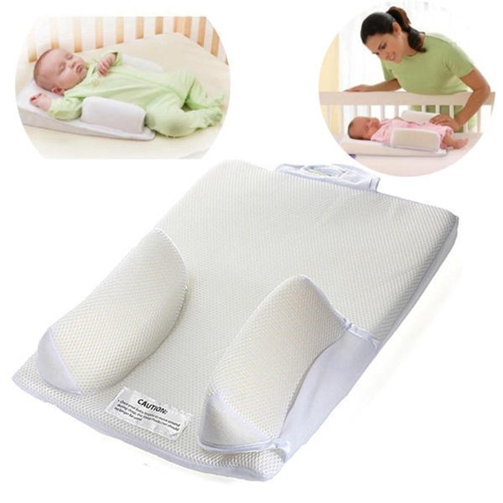 Baby Safe Sleep Positioners Anti Roll Sleep Newborn Infant Prevent Flat Head Shape Pillow Sleeping Mat Head Back Waist Support