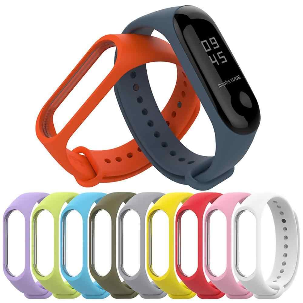 シリコーンストラップブレスレット xiaomi mi バンド 3 4 スポーツストラップ腕時計スマートブレスレットの交換ストラップ miband 3 4 nfc ブレスレット