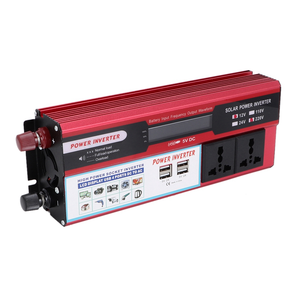 6000W Solar Power Inverter Wave Digital Display Phone 4 USB Charger For Car Marine Solar Electric Power Wind Electric Power