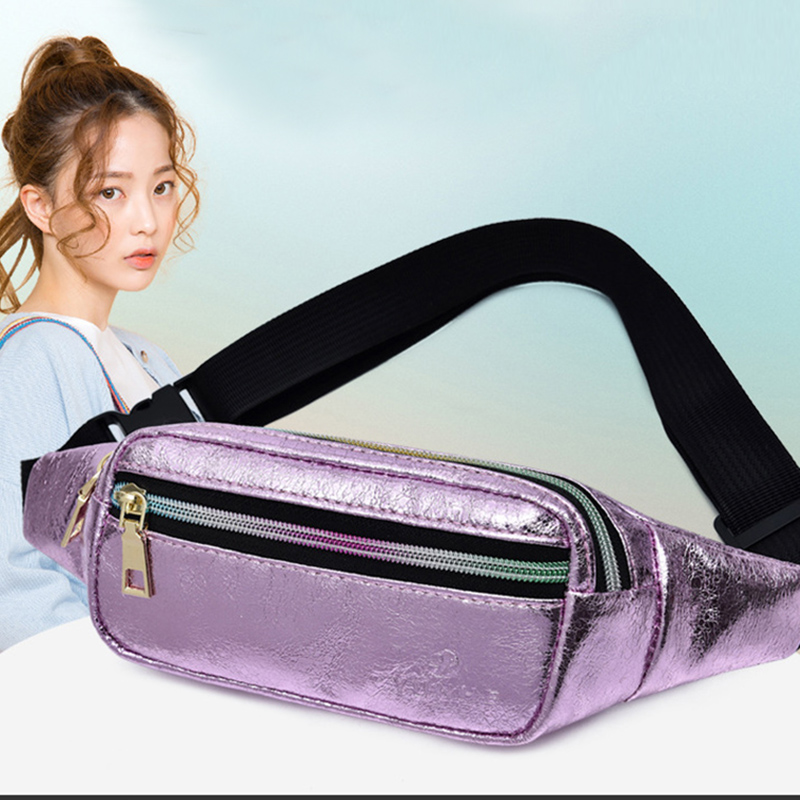Women Waist Bag Leather Fanny Pack Chest Bag Female Waterproof Belt Bag Banana Bags High Quality Kidney Shoulder Messenger Bags