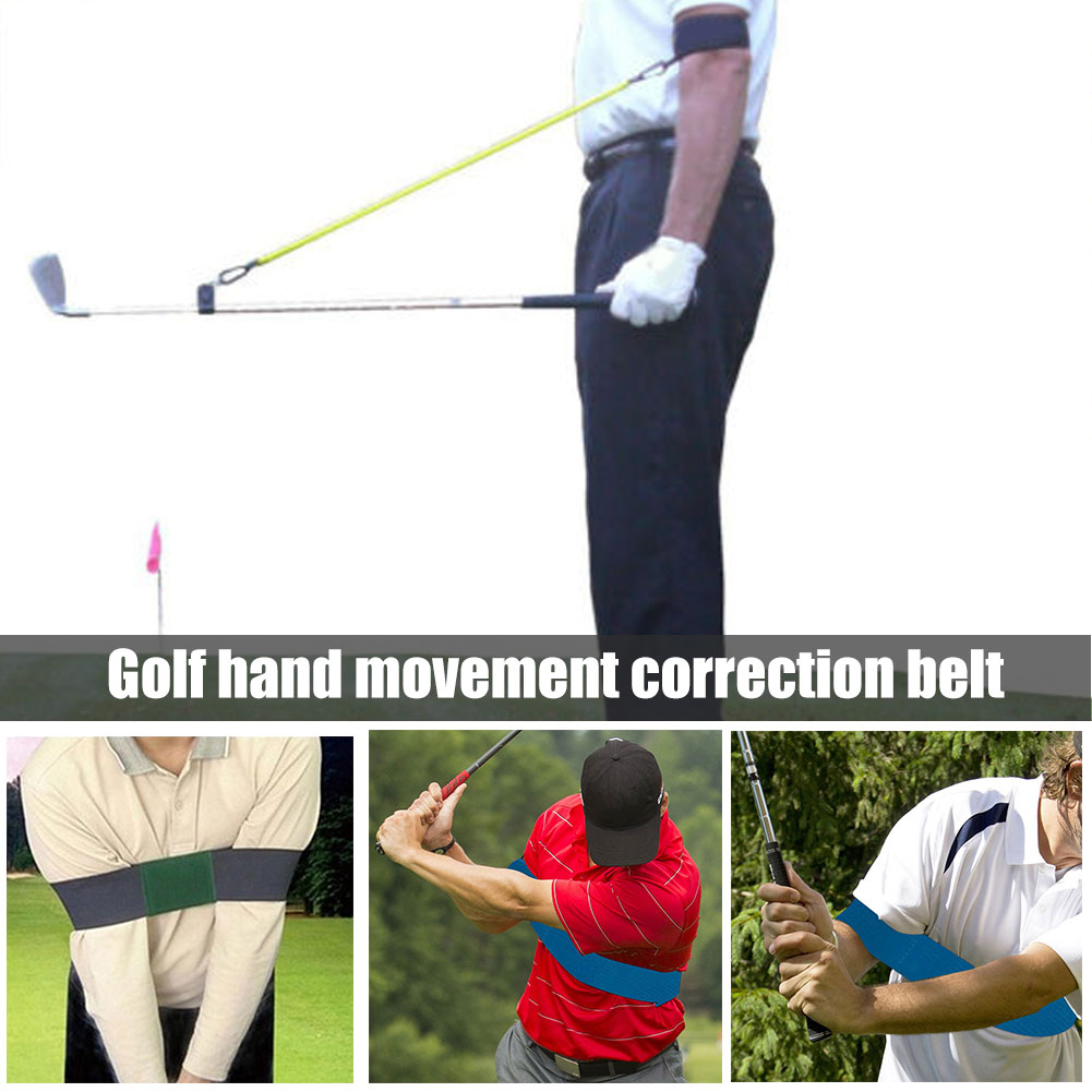 Newly Golf Arm Posture Motion Correction Belt Durable Smooth Swing Training Aid Elastic S66