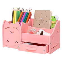 1PCS Muiti function school desk pen pencils drawer case storage box table simple pencil shelf holder office stationery supplies недорого