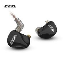 Nieuwe Cca CA16 7BA 1DD Hybrid Drivers In Ear Oortelefoon Hifi Monitoring Headset Met 2PIN 0.75Mm Kabel Cca C12 c16 Zsx Zstx Vx T4 T3