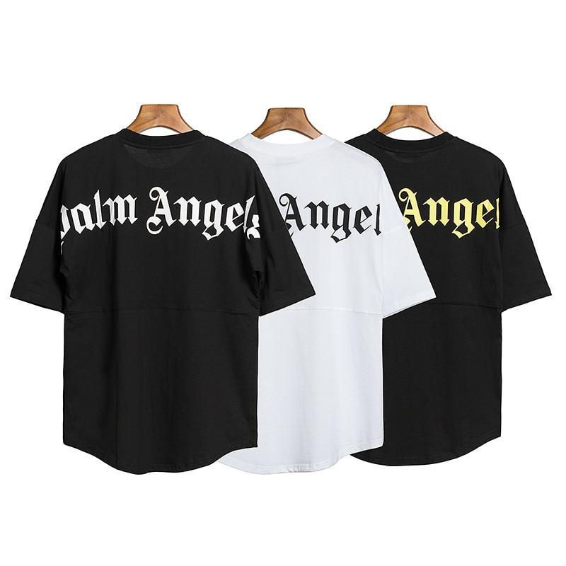 European Trend Palm Palm Angel Bat Sleeve Off-Shoulder Men And Women Celebrity Style Couples Short Sleeve T-shirt