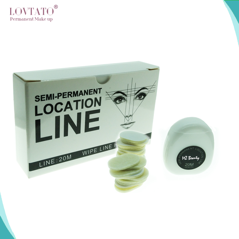 Semi-permanent Location Line With Wipe Line Head Wire For Microblading Marking Pre-inked Mapping Thread Tattoo Accessories