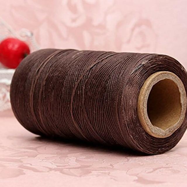 Hilo encerado de costura 150D 1mm Cable de costura manual para herramienta de artesanía de cuero 250M DIY productos de cuero artesanal