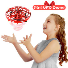 UFO Drone Infrared Induction Aircraft Mini Drone Christmas Birthday Gift RC Helicopter UFO Flying Ball Toys for Boys Girl(China)