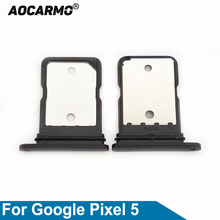 Aocarmo Black For Google Pixel 5 Sim Card Tray SIM Slot Holder Replacement Parts