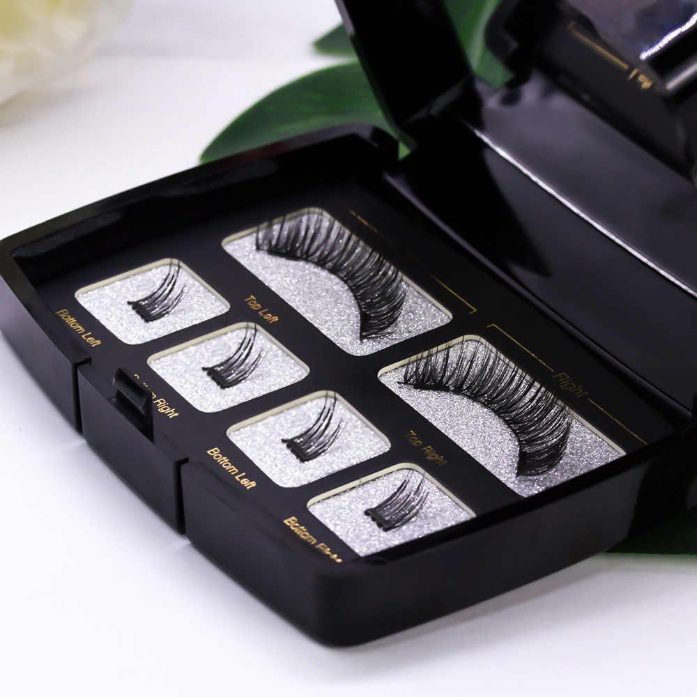 Magnetic Eyelashes Handmade Natural False Eyelash with custom packaging Makeup Tool Box Acrylic Magnet Lashes SCT06