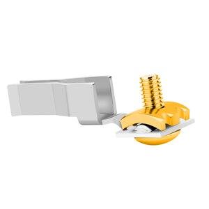 Image 3 - Monosaudio E106R/F106R Pure Copper Rhodium Plated EU Type Power Connector Schuko Power Plug Hifi DIY EU Version Power Plug