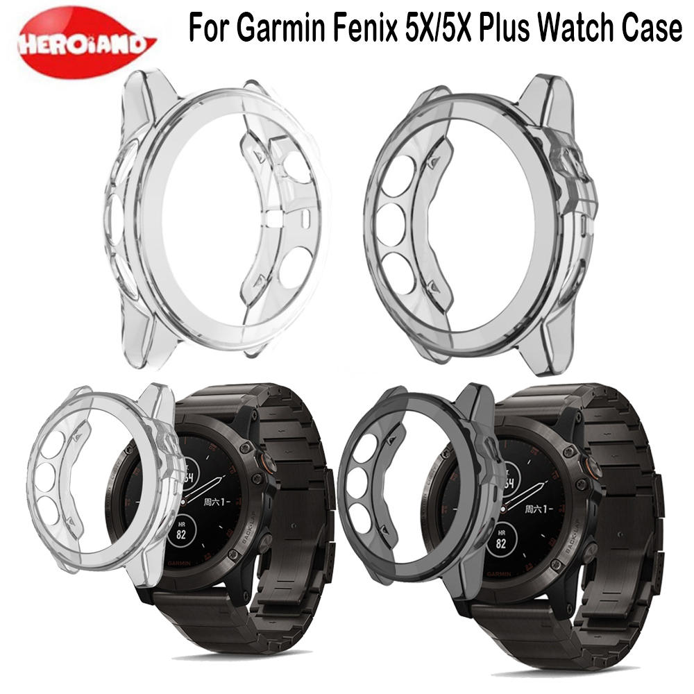New Silicone Wrist Band For Garmin Fenix 5X Exquisite Soft Case Protector Cover For Garmin Fenix 5 X/5X Plus Smart Sport Watch