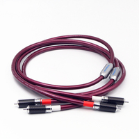 Audiophile Audio RCA Cable 4N Sterling Silver Conductor High Density Shielding carbon fibre RCA Connection line