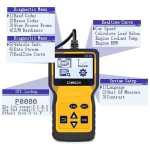 Image 4 - V310 OBDII EOBD Auto Code Reader 6 Languages Automobile Diagnostic Scanner For All OBD2 OBDII Protocols Cars LCD Display