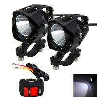 1 ou 2 pces 30 w 6500 k 4 v 84 v motocicleta xm l t6 led condução farol nevoeiro luz do ponto da lâmpada|  -