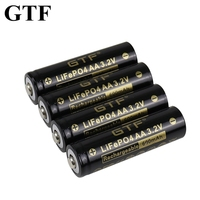 Batteria GTF 3.2V LiFePO4 600mAh AA per fotocamera e luci a led solari giocattoli elettrici batteria al litio a punta mouse wireless