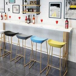 Nordic Bar Chair Creative Fashion Bar Chair Bar Stool Bar Chair Coffee Shop Front Desk High Chair Stool Bar Furniture for Home