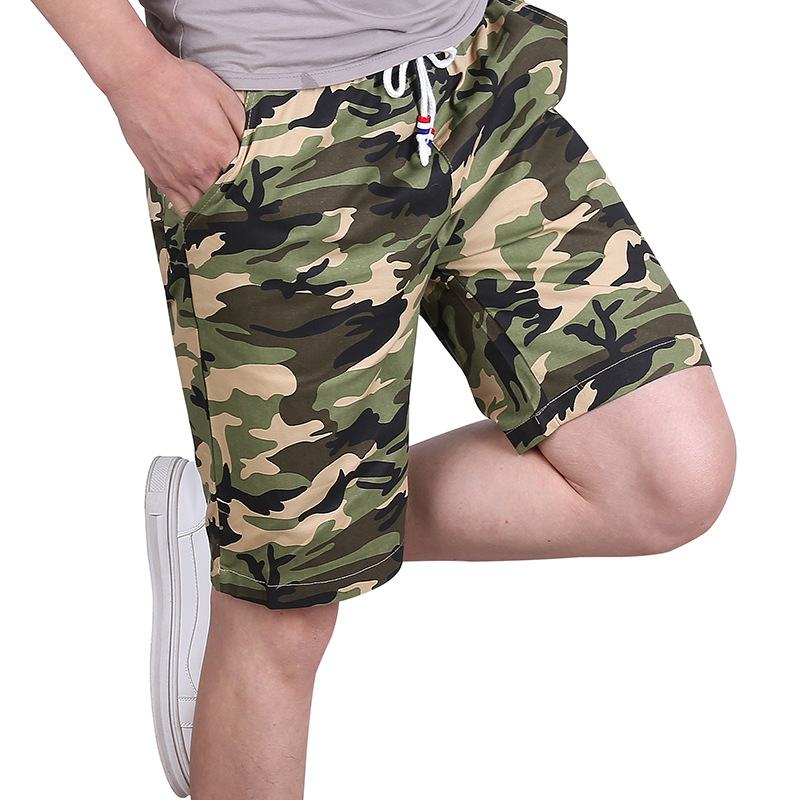 Plus Size M-6XL Camouflage Men's Shorts 2019 Military Cotton Streetwear Elastic Waist Causal Beach Short Homme Bermuda Masculina