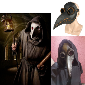 Image 3 - Plague Doctor Costumes for Men Monk Cosplay Plague Doctor Maske Steampunk Robe Priest horror Wizard Halloween Witch Dress Women