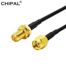 CHIPAL – câble d'extension RG174 RP-SMA de 10M 12M 15M 20M, câble d'alimentation mâle à femelle pour antenne de routeur de carte réseau LAN WiFi Coaxial