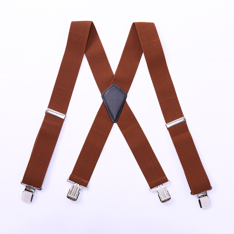 Men'S Shirt Suspenders For Trousers Pants Holder Braces Women Wedding Suspender Belt Straps 50mm Wide Elastic Metal Clips