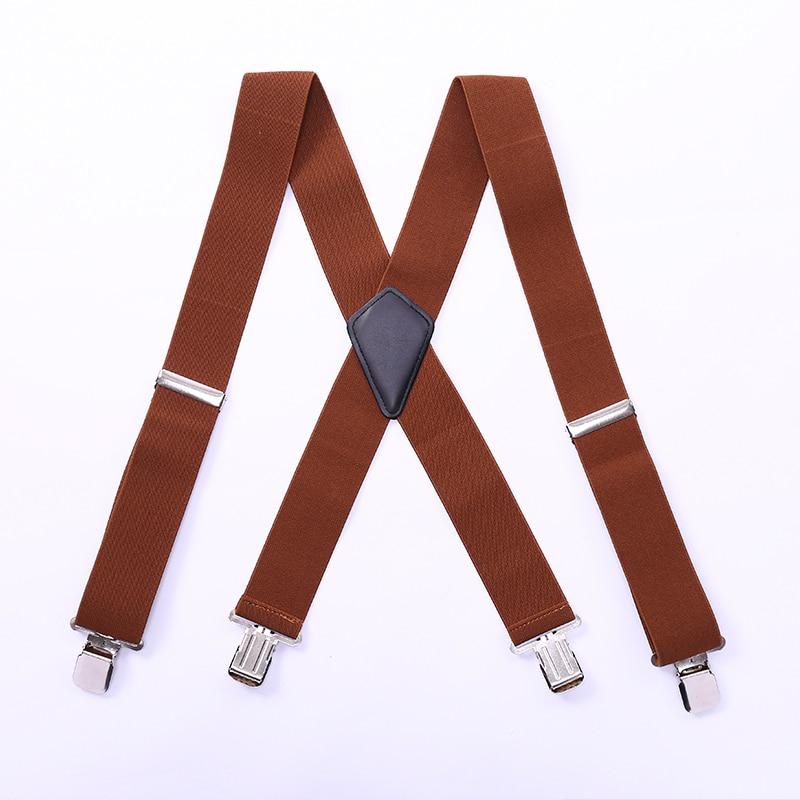 Men'S Shirt Suspenders For Trousers Pants Holder Braces Women Wedding Suspender Belt Straps 50mm Wide Elastic Metal Clips