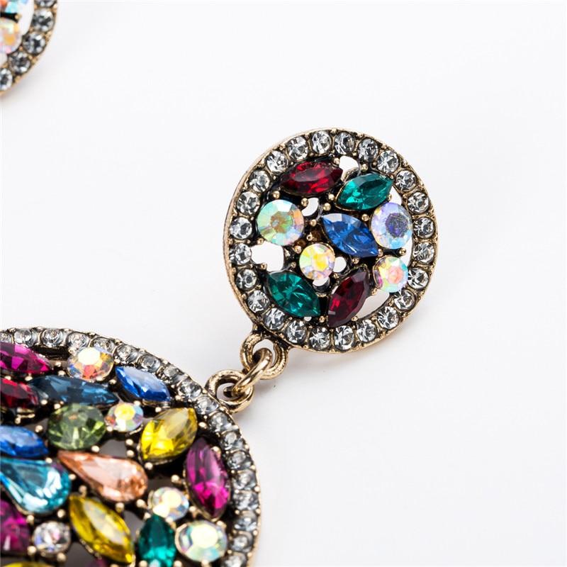 2019 new Fashion Jewelry Double Size Round Acrylic Earrings Retro Pop Personality Earrings dance Women 39 s Earrings in Drop Earrings from Jewelry amp Accessories