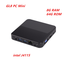 GL8-Mini PC DDR4, Windows 10, 8GB de RAM, 64GB de ROM, Intel Gemini Lake J4115, reproductor multimedia, 2,4G, 5G, WIFI, 1000M, LAN, 512G, SSD, dispositivo de TV inteligente