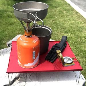 Image 2 - Ultra light mini picnic table aluminum folding tea table outdoor camping hiking hiking portable barbecue table