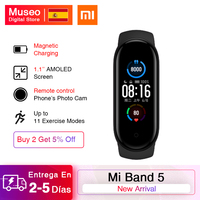 Original Xiaomi Mi Band 5 Smartband 4 Color 1.2\'\' Touch Screen Miband 5 Wristband Fitness Track Heart Rate Monitor