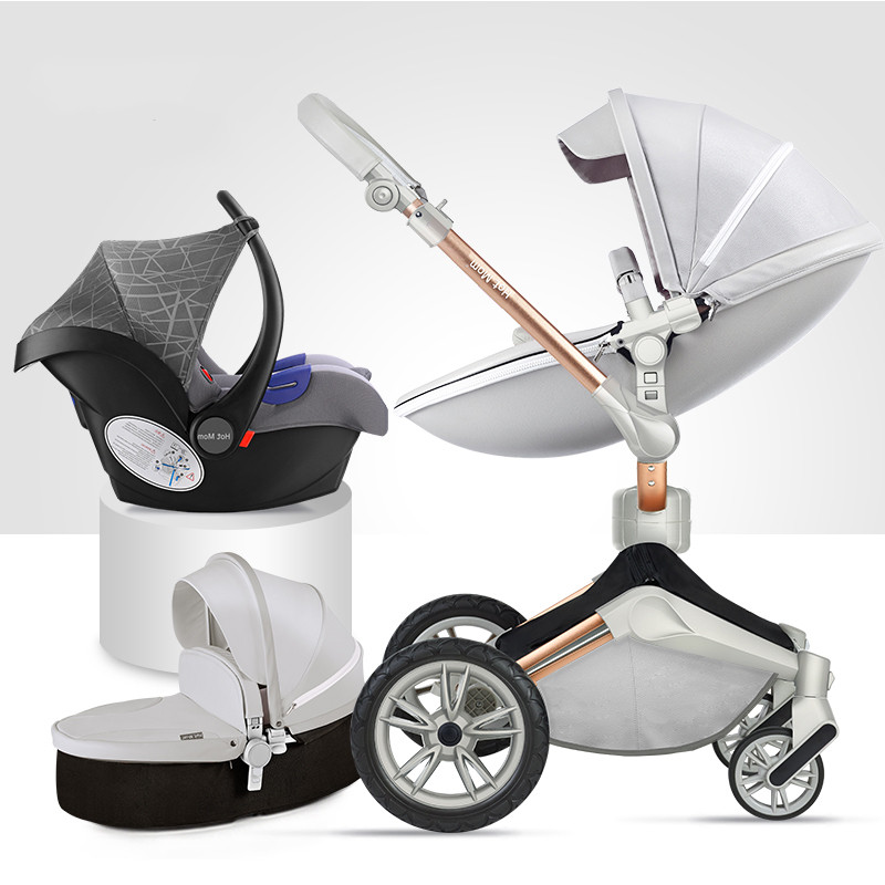 British hotmom high landscape stroller can sit reclining folding light import 0-3 years old baby child stroller