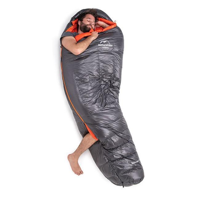 Naturehike Down sleeping bag Outdoor thickening Warm camping Single sleeping bag Adult light Mummy sleeping bag NH19YD001 3