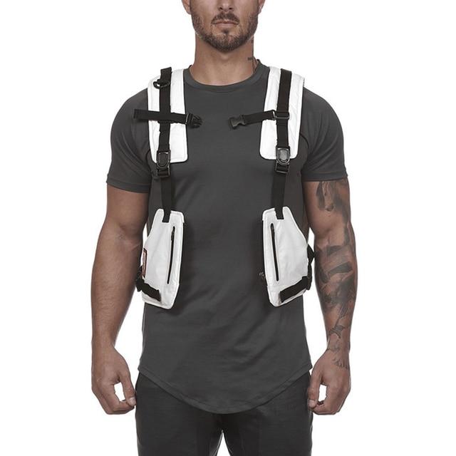 حقائب الصدر سترة التكتيكية للذكور سترة عاكسة مرئية للغاية 2020 جديد رجل الخصر حزمة الرجال متعددة جيب الأمن مكافحة سرقة جيب