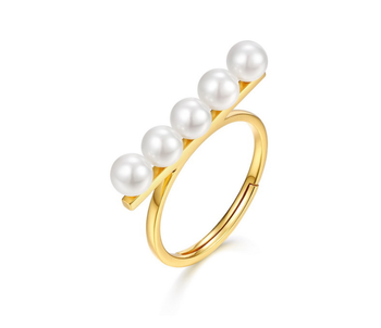 18 K Gold Pearl Statement Rings Jewelry K-Gold Jewelry