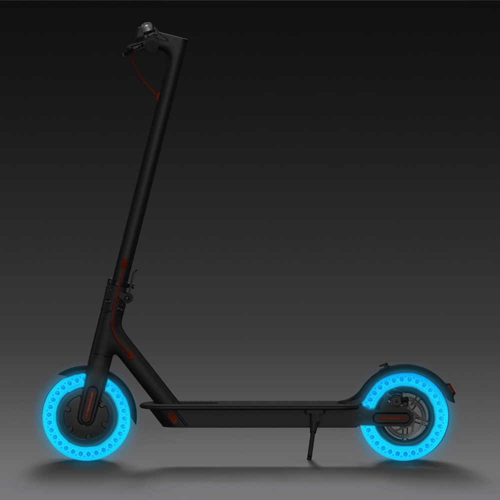 Luminous Shock Absorber Tire For Xiaomi Mijia M365 Scooter Skateboard Damping Rubber Tires Wheels Tyre Solid Hole Tires