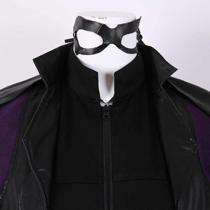 Huntress Leather Mask Arrow Series Tv Show Black Cosplay Masquerade Carnival Halloween Artemis Mardi Gras Helena Bertinelli Costume