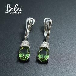 Bolaijewelry, color change Zultanite 925 sterling silver water drop earring for women created gemstone fine jewelry