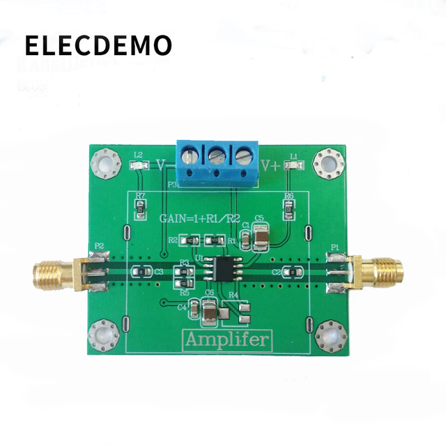 OPA847 Module High Speed Low Noise Op Amp Voltage Amplifier In phase 3.9G Wideband Pulse Amplification Function demo Board