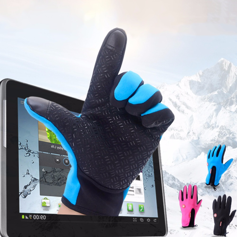 Gloves M for Mobile-Phone Mittens Driving Touch-Screen Cycling Warm Outdoor-Climbing