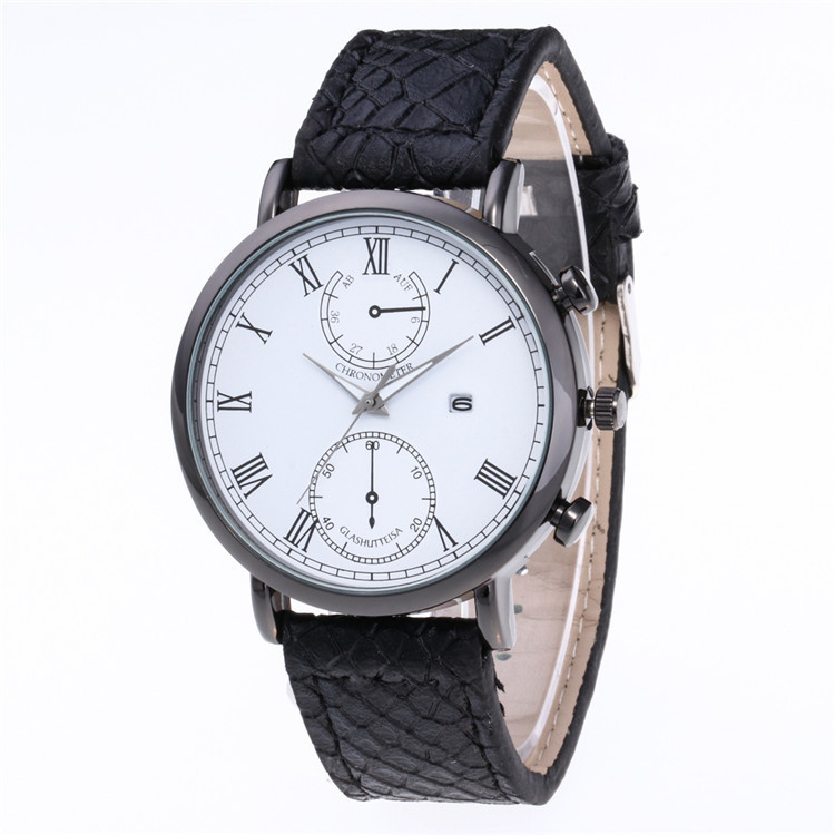 Minimalist Fashion And Personality More Color Quartz Watch Face Dial Personality Scale With The Calendar Watch
