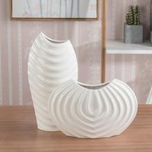 Nordic Creative ceramic vase white screw thread vase decoration tabletop vase decoration flower vase for home wedding decoration цена 2017
