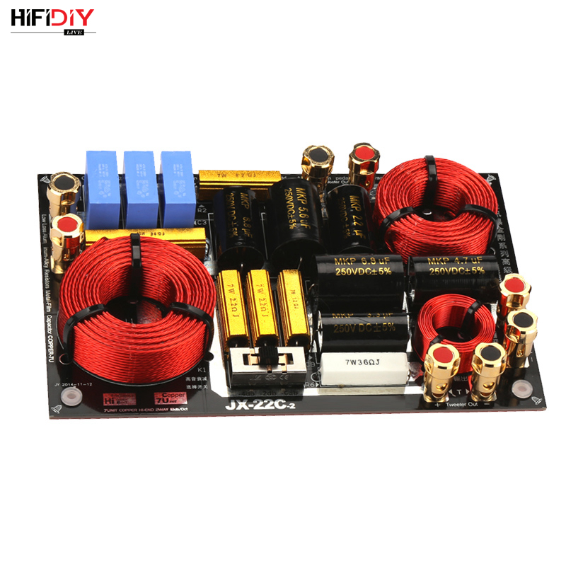 HIFIDIY LIVE HI-END JX-22C 2 Way 2 speaker Unit ( tweeter + bass ) HiFi HOME Speakers audio  Frequency Divider Crossover Filters