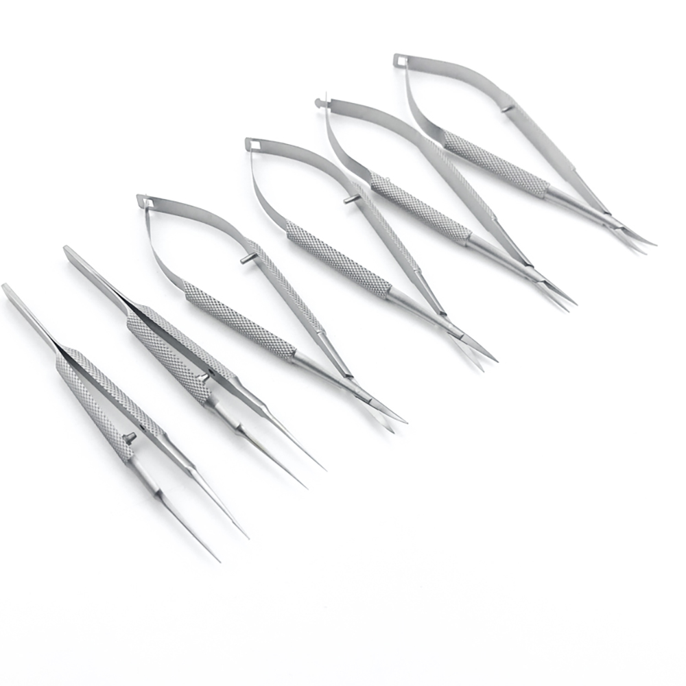 1pc Ophthalmic Microsurgical Instruments 12.5cm Scissors/Needle Holders /tweezers Stainless Steel Surgical Tool