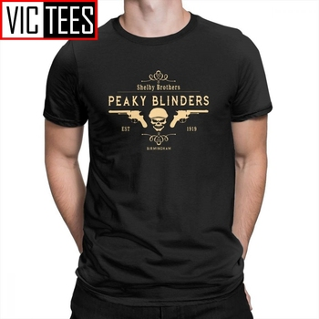 Peaky Blinders Men T Shirts Shelby Brothers T-Shirts New Arrival Tee Purified Cotton Short-Sleeved Mens Printed