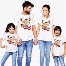 Счастливого Рождества, 1 предмет Семейные комплекты наряд мама папа, дочка, сын; футболка; одежда для мамы; папы и детей с надписью матч забавная футболка